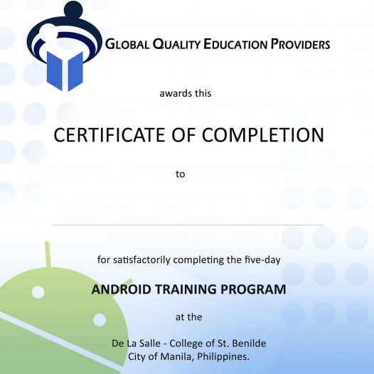 Android Training for Deans and Teachers Completed